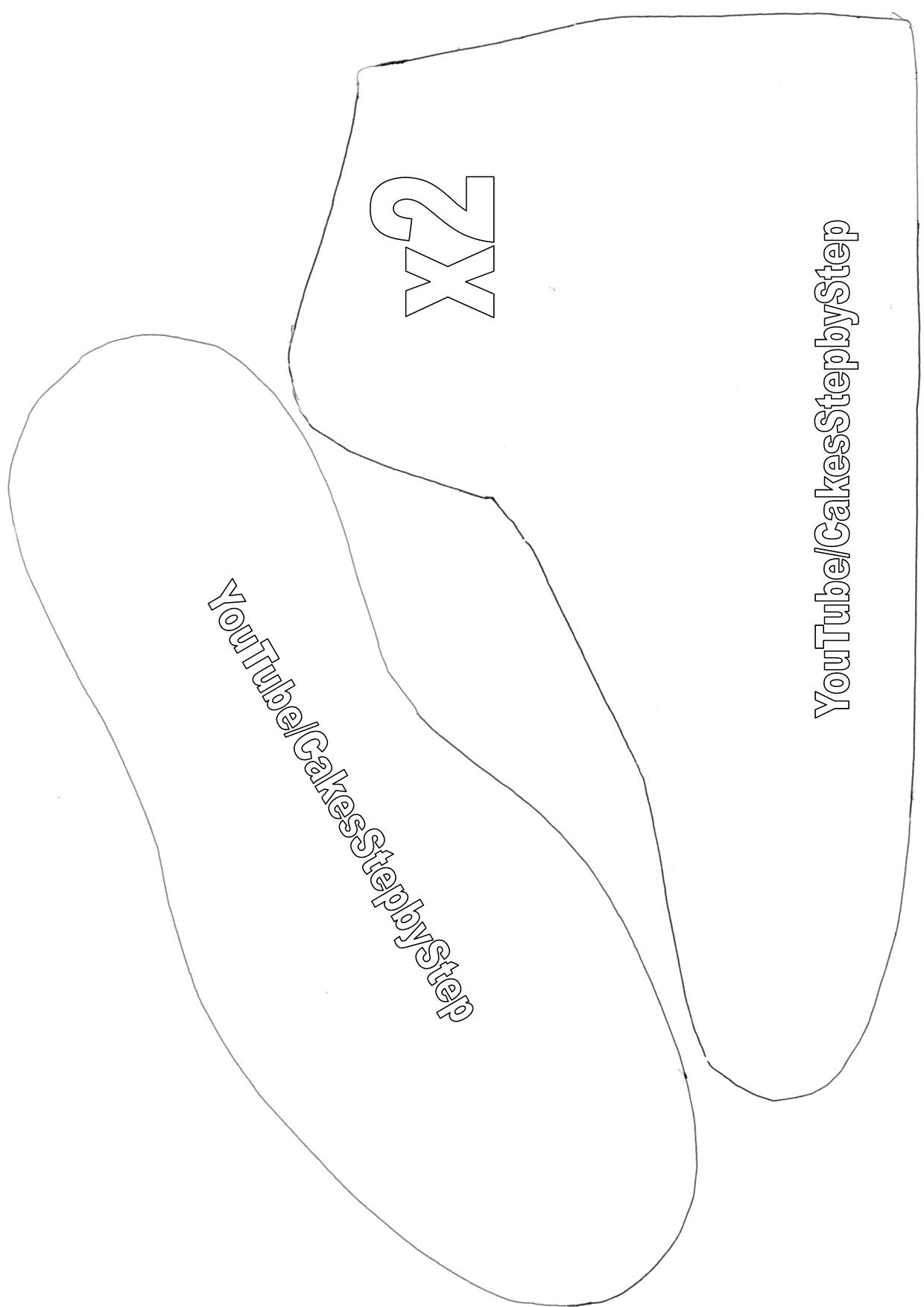 image about Sneaker Template Printable referred to as Free of charge Cake Templates - Welcome in the direction of CakesStepbyStep.